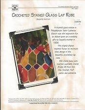 """""""Crocheted Stained Glass Lap Robe"""" by K1C2 PAT 0991"""