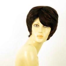 perruque femme 100% cheveux naturel courte méchée noir/rouge KRYSTIE 1b410