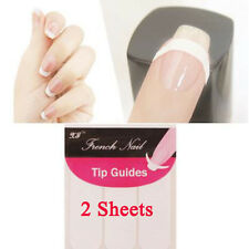 2sheets French Manicure Nail Art Tip Guides Strip for Nails & Toes Tools