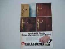 advertising Pubblicità 1979 MANIGLIE VALLI E COLOMBO