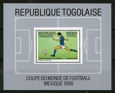 TOGO 1986 MEXICO FOOTBALL WORLD CUP 1000F COMMEMORATIVE MINIATURE SHEET MNH MNH