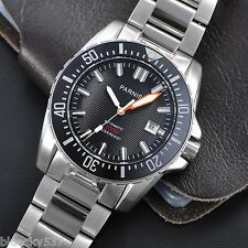 Sapphire Glass 43mm Black Dial Parnis Ceramic Bezel Miyota Automatic Men's Watch