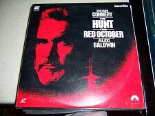 THE HUNT FOR RED OCTOBER  SEAN CONNERY  ALEC BALDWIN  LV 32020-2  LASER DISC