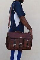 Vintage Genuine Real Leather Handbag Shoulder Bag Satchel Messenger