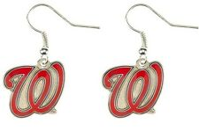 WASHINGTON NATIONALS DANGLE EARRINGS NEW & OFFICIALLY LICENSED