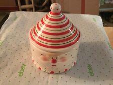 Santa Face Cermic Cookie Jar
