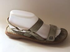 Born Womens 9 M Sandals Slingback Buckle Pale Green Leather Open Toe Shoe Casual