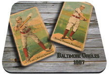 1887 baltimore orioles mlb baseball burns kilroy mouse pad usa made