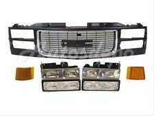 FOR 1994-2002 Gmc Pickup Old Style Grille Blk/Chr Park Side Marker Headlight 7P