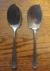 Vintage Jelly Server Silverplate Spoon Wm Rogers & Son AA Oneida Tudor Plate LOT