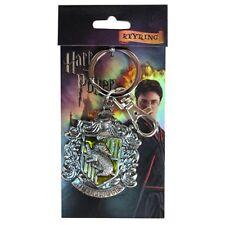 Harry Potter New * Hufflepuff * Crest Pewter Key Chain Key Ring Hogwarts House