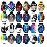 3D Print Women's Men Hoodie Sweater Sweatshirt Jacket Coat Pullover Graphic Tops