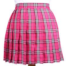Lolita Cosplay Japan School Girls Uniform Dress Plaid Pleated Mini Skirt Pretty
