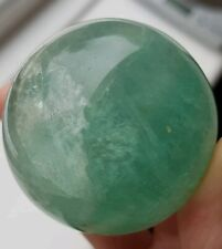 BEAUTIFUL GREEN FLUORITE SPHERE. CRYSTAL MINERAL