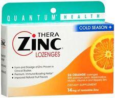 Quantum Thera Zinc Cold Season+ Lozenges Orange 24 Each (Pack of 2)