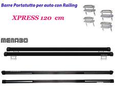Barre Portatutto Portapacchi Auto SW XPRESS 120 cm Universali Menabo in Acciaio
