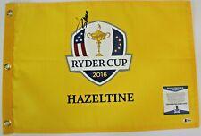 Jordan Spieth Signed 2016 Ryder Cup Golf Flag w/Beckett COA Hazeltine USA T56478