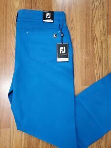 New Footjoy Athletic Fit 5 Pocket Performance Slimmer Fit Golf Pants Sz W36 L32