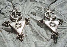 Silver Moroccan very small fibula  earrings with silver hooks