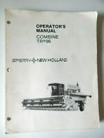 New Holland Combine TR96 Operator's Manual