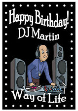 NORTHERN SOUL (DJ) - FUNNY HAPPY BIRTHDAY PERSONALISED CARD (ANY NAME)  NEW