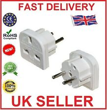 10 x 3 Pin UK to 2 Pin EU Europe Holiday Travel Adapters Plug Spain France etc