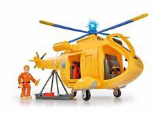 Simba 109251002 - Feuerwehrmann Sam Hubschrauber Wallaby II mit Tom Thomas