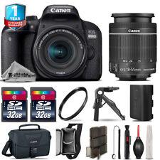 Canon Rebel 800D T7i DSLR Camera + 18-55mm STM + 1yr Warranty - 64GB Kit Bundle