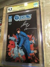 the Question #17 CGC 9.2 watchmen Rorschach Signed 2x Denny O'Neil Denys Cowan