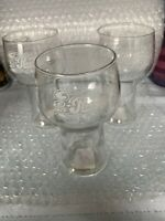 Vintage 1970's Pepsi Cola 12oz Drinking Glass With White Lettering Set Of 3