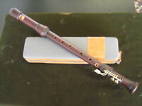 KUENG KUNG NEW MODEL 2511 BAROQUE STAINED PEARWOOD TENOR RECORDER WITH TWO KEYS!