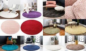 Medium Large Circle Modern Shaggy Shag Rug Luxurious Non- Shed Ultra Soft Carpet