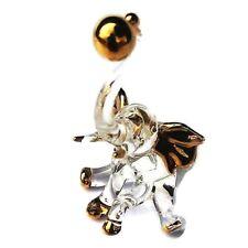 Elephant Ball Blown Glass Figurine Art Clear Ornament Animal Hand Miniature Gift