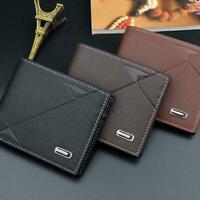 Fashion Men's Leather Wallet Pocket Bifold Purse Clutch New Credit ID Card I2E0