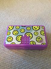 Justice Push Code Box Locker Safe Smiley Emoji Hardly Used w/Batteries