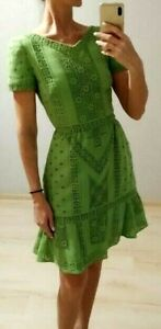 AUTH Valentino green lace Dress 38