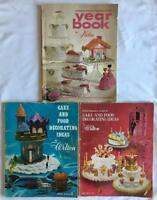 Vintage - Lot of 3 - Wilton Cake & Food Decorating Yearbooks 1966 1969 1972