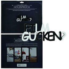"Holzschrift 3D ""Film gucken"" 11,5 cm  Holzbuchstaben Schriftzug Buchstaben"