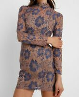 93# Missguided HIGH NECK CONTRASTED COLOURED LONG SLEEVE BODYCON dress RRP£43