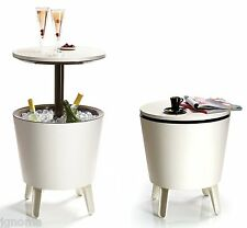 Keter Cool Bar Table Fridge For Garden Furniture Bar Cooler Exterior Drink Cold
