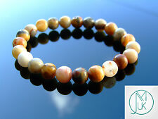 Crazy Lace Agate Natural Gemstone Bracelet 7-8'' Elasticated Healing Stone Reiki