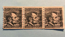 Abraham Lincoln 4 cent black stamp Used Lot 3
