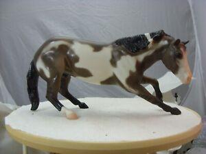 Semi glossy grullo Paint cutting horse