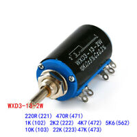 220R ~ 47K WXD3-13-2W Rotary Multiturn Wirewound Potentiometer Variable Resistor