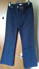 "Ladies Blue Trousers / Jean style Size 12 L 30.5""  with belt Per Una"