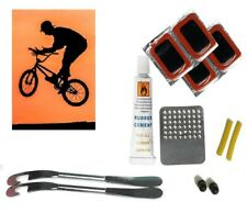 Bike TYRE tube bicycle puncture patches glueless repair tool kit cycle puncher