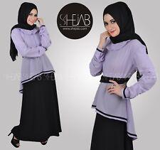 Maxi dress Nursing Jilbab Abaya Long Work Dress Brown Black
