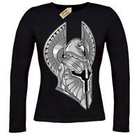 Full Armor T-Shirt spartan helmet warrior knight ladies long sleeve