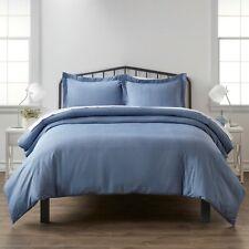 Home Collection Premium Ultra Suave Azul Diamante Patrón 3 pieza conjunto de funda de edredón