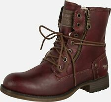 Mustang Military Ankle Boots - Size 6 / 39 - Burgundy / Purple  - Vegan